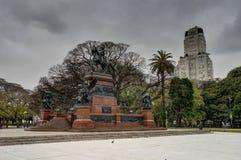 Πάρκο με τη εικονική παράσταση πόλης Μπουένος Άιρες Αργεντινή ουρανοξυστών Στοκ φωτογραφίες με δικαίωμα ελεύθερης χρήσης