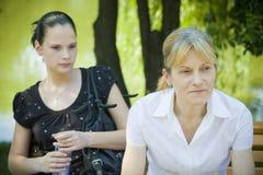 πάρκο μητέρων κορών Στοκ φωτογραφία με δικαίωμα ελεύθερης χρήσης
