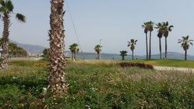 Πάρκο μπροστά από τη λιμνοθάλασσα marchika, Μαρόκο στοκ φωτογραφία