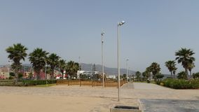 Πάρκο μπροστά από τη λιμνοθάλασσα marchika, Μαρόκο στοκ εικόνα