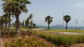 Πάρκο μπροστά από τη λιμνοθάλασσα marchika, Μαρόκο στοκ εικόνες με δικαίωμα ελεύθερης χρήσης