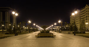 Πάρκο νύχτας Στοκ Εικόνες