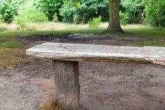 πάρκο πάγκων ξύλινο Στοκ εικόνα με δικαίωμα ελεύθερης χρήσης