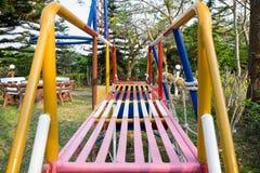 Πάρκο παιχνιδιού των δημόσιων παιδιών Στοκ φωτογραφία με δικαίωμα ελεύθερης χρήσης