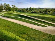 Πάρκο πόλεων σε Zamosc, ανατολική Πολωνία Στοκ φωτογραφίες με δικαίωμα ελεύθερης χρήσης