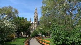Πάρκο πόλεων στο παλαιό Δημαρχείο της Βιέννης australites φιλμ μικρού μήκους