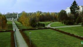 Πάρκο πόλεων φθινοπώρου απόθεμα βίντεο