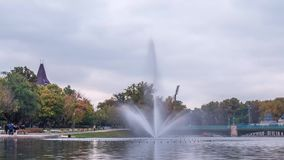 Πάρκο πόλεων αποκαλούμενο σε η Βουδαπέστη Varosliget Βίντεο χρονικού σφάλματος φιλμ μικρού μήκους