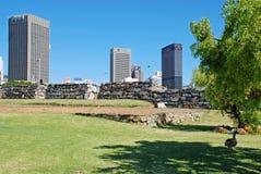 Πάρκο πόλεων και άποψη στο κέντρο της πόλης, Καίηπ Τάουν, Νότια Αφρική Στοκ εικόνα με δικαίωμα ελεύθερης χρήσης