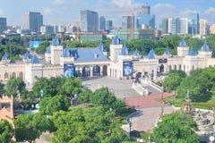 Πάρκο ροδών Ferris Στοκ εικόνα με δικαίωμα ελεύθερης χρήσης
