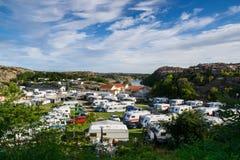 Πάρκο ρυμουλκών διακοπών στο johannesvik Στοκ Εικόνες