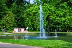 Πάρκο στη μικρή πόλη Frantiskovy Lazne Franzensbad δυτικής Βοημίας SPA - Δημοκρατία της Τσεχίας Στοκ φωτογραφίες με δικαίωμα ελεύθερης χρήσης