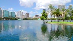 Πάρκο στο κέντρο της πόλης Ορλάντο Φλώριδα Eola λιμνών απόθεμα βίντεο
