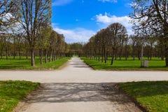 Πάρκο στο μουσείο-κτήμα Arkhangelskoye - Μόσχα Ρωσία Στοκ φωτογραφία με δικαίωμα ελεύθερης χρήσης