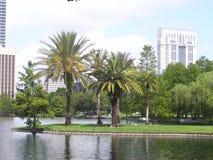 Πάρκο στο στο κέντρο της πόλης Ορλάντο, Φλώριδα Στοκ φωτογραφία με δικαίωμα ελεύθερης χρήσης