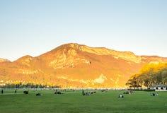 Πάρκο στο Annecy, Γαλλία Στοκ Εικόνες