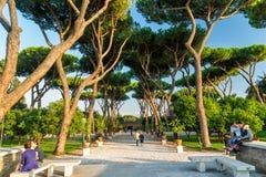Πάρκο στο Hill Aventine στη Ρώμη, Ιταλία στοκ φωτογραφία με δικαίωμα ελεύθερης χρήσης