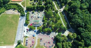 Πάρκο της εναέριας άποψης 20 Lviv Ουκρανία πολιτισμού 08 2018 απόθεμα βίντεο