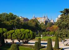 Πάρκο της ευχάριστης υποχώρησης στη Μαδρίτη Ισπανία Στοκ εικόνα με δικαίωμα ελεύθερης χρήσης
