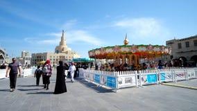 Πάρκο της Luna σε Doha, Κατάρ απόθεμα βίντεο