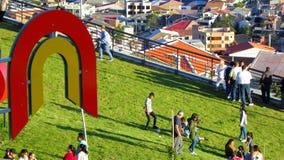 Πάρκο του φωτός ή Megaparque de Λα Luz Λογότυπο Cuenca του δήμου στοκ εικόνες
