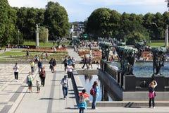 Πάρκο του Όσλο Στοκ φωτογραφίες με δικαίωμα ελεύθερης χρήσης