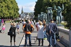 Πάρκο του Όσλο Στοκ εικόνες με δικαίωμα ελεύθερης χρήσης
