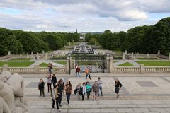 πάρκο του Όσλο vigeland Στοκ Εικόνες