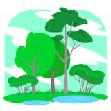 Πάρκο Διανυσματική απεικόνιση