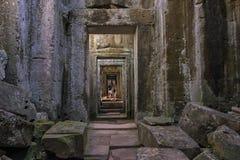 Πάρκο Angkor Archeological στηλών και αψίδων, Καμπότζη Στοκ Φωτογραφίες