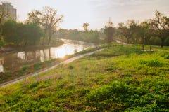 Πάρκο Bayou Buffalo στο ηλιοβασίλεμα την άνοιξη Στοκ Φωτογραφίες