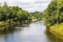 Πάρκο Bute και ποταμός Taff, Κάρντιφ, Ουαλία, UK Στοκ Φωτογραφία