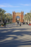 Πάρκο Ciutadella και Arc de Triomf στη Βαρκελώνη Στοκ Εικόνες