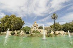 Πάρκο Ciutadella καταρρακτών πηγής Στοκ Φωτογραφία