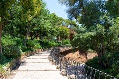 Πάρκο Güell που σχεδιάζεται από τον καταλανικό αρχιτέκτονα Antoni Güell στη Βαρκελώνη, Ισπανία. Στοκ φωτογραφία με δικαίωμα ελεύθερης χρήσης