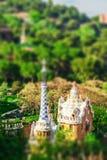 Πάρκο Guell από τον αρχιτέκτονα Antoni Gaudi στη Βαρκελώνη Στοκ Εικόνες