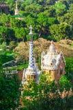 Πάρκο Guell από τον αρχιτέκτονα Antoni Gaudi στη Βαρκελώνη Στοκ Εικόνα