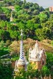 Πάρκο Guell από τον αρχιτέκτονα Antoni Gaudi στη Βαρκελώνη Στοκ Φωτογραφία