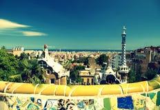 Πάρκο Guell στη Βαρκελώνη, Ισπανία. Στοκ Φωτογραφία