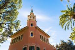 Πάρκο Guell στη Βαρκελώνη, Ισπανία Στοκ Εικόνες