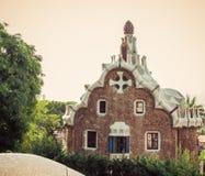 Πάρκο Guell στη Βαρκελώνη. Καταλωνία, Ισπανία Στοκ Φωτογραφίες