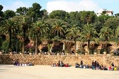 Πάρκο Guell του Antoni Gaudi Βαρκελώνη στοκ εικόνες