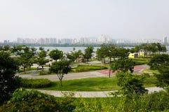 Πάρκο Hangang στη Σεούλ στοκ φωτογραφία με δικαίωμα ελεύθερης χρήσης