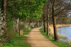 πάρκο joggers Στοκ φωτογραφία με δικαίωμα ελεύθερης χρήσης