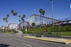 Πάρκο & Rollercoaster διασκέδασης του Cruz Santa Στοκ φωτογραφία με δικαίωμα ελεύθερης χρήσης