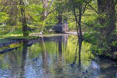 Πάρκο Sempione στο Μιλάνο, Ιταλία στοκ φωτογραφία με δικαίωμα ελεύθερης χρήσης