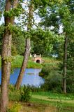 Πάρκο Uzutrakis από το Ε φ André στη χερσόνησο της λίμνης Galves και Skaistis κοντά στο Τρακάι Στοκ Εικόνες
