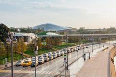 Πάρκο Zaryadye το πρωί, Μόσχα, Ρωσία Στοκ φωτογραφία με δικαίωμα ελεύθερης χρήσης