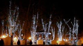 Πάρκο Zrinjevac στο χρόνο εμφάνισης στο Ζάγκρεμπ απόθεμα βίντεο
