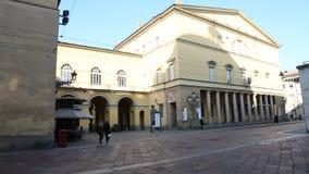 Πάρμα, Ιταλία - το Νοέμβριο του 2018: Βασιλικό θέατρο στην Πάρμα, Ιταλία, μια ηλιόλουστη χειμερινή ημέρα απόθεμα βίντεο